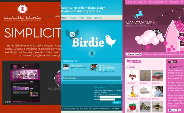色別で見るクリエイティブなwebデザイン