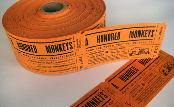 A Hundred Monkeys Business Cards on the Behance Network
