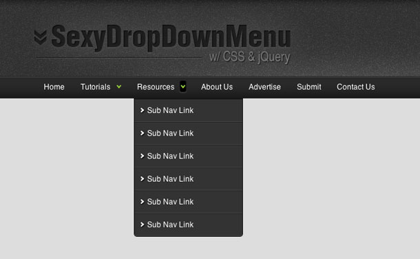 Sexy-Drop-Down-Menu