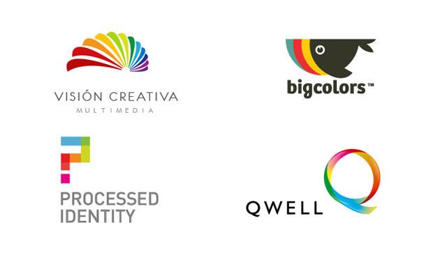 色の使い方が難しいカラフルなロゴデザインの美しい例40